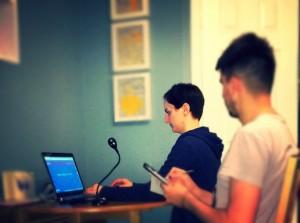 UX testing session