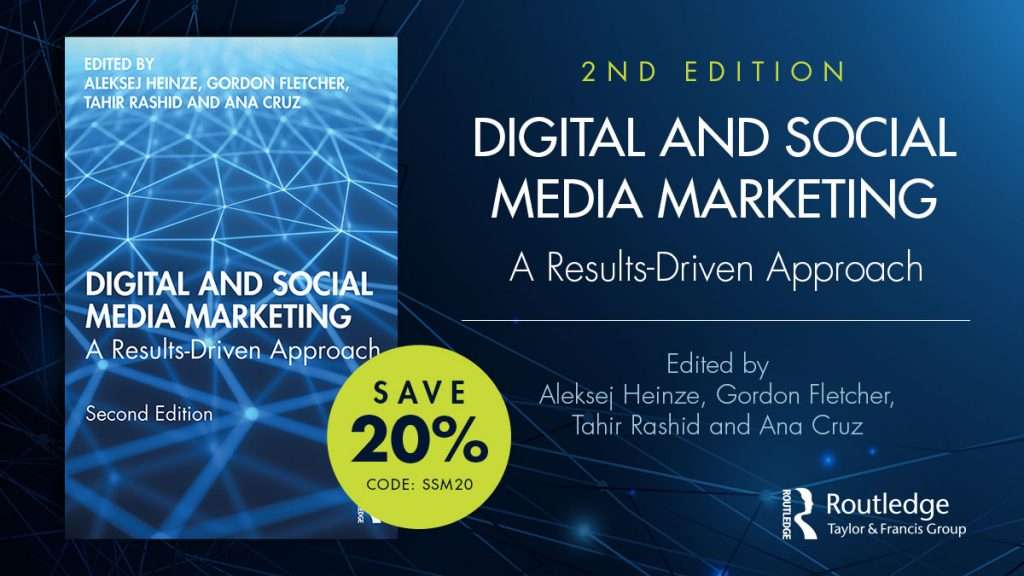 Get a 20% discount on the Digital and Social Media Marketing book with the code SSM20